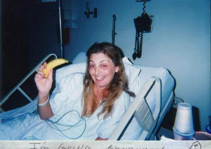 Me when diagnosed       with Cushing's and lung cancer June 2000