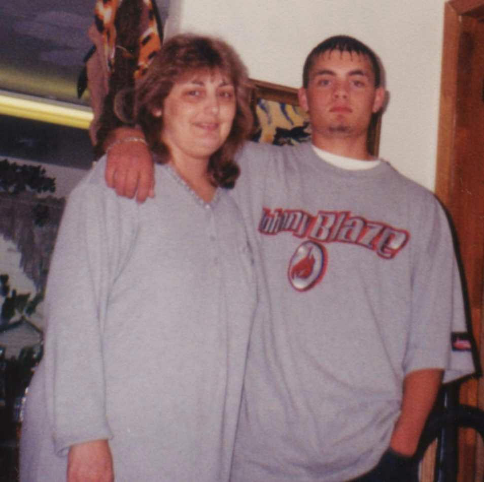 Me and       Derek, May 2001