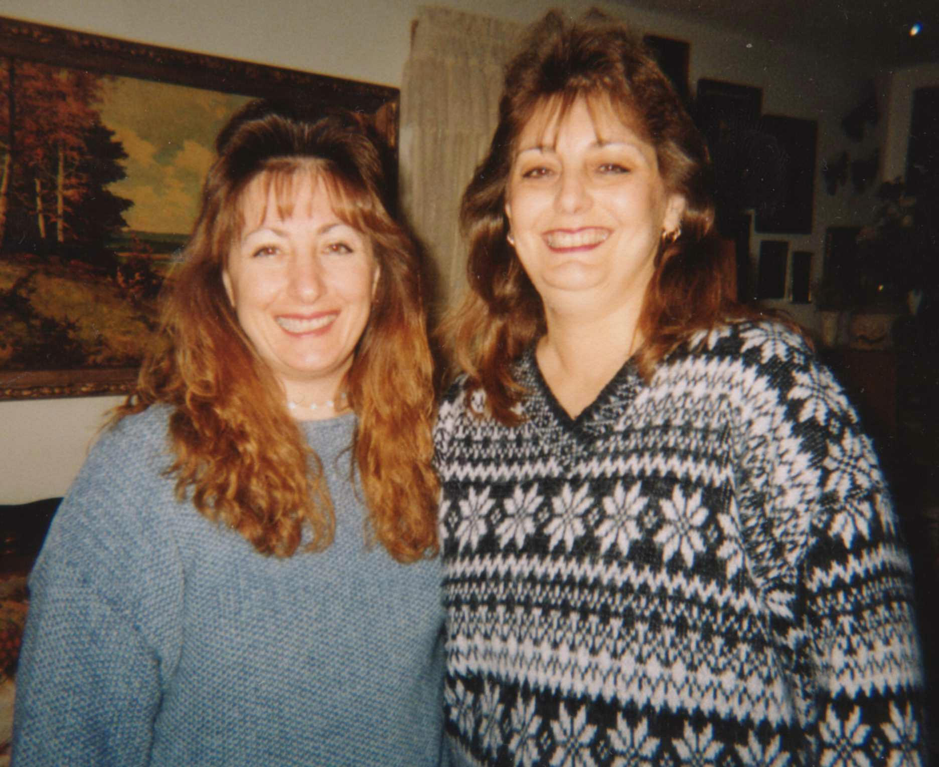Laurie       and me, around Christmas, 2001