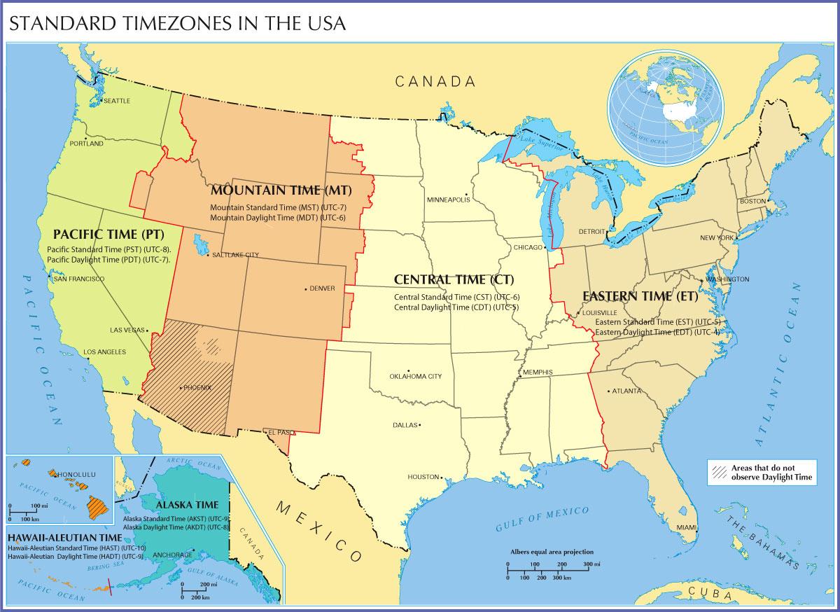 US Timezones
