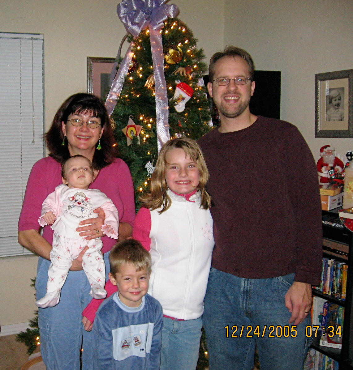 Heike and her family in December 2005