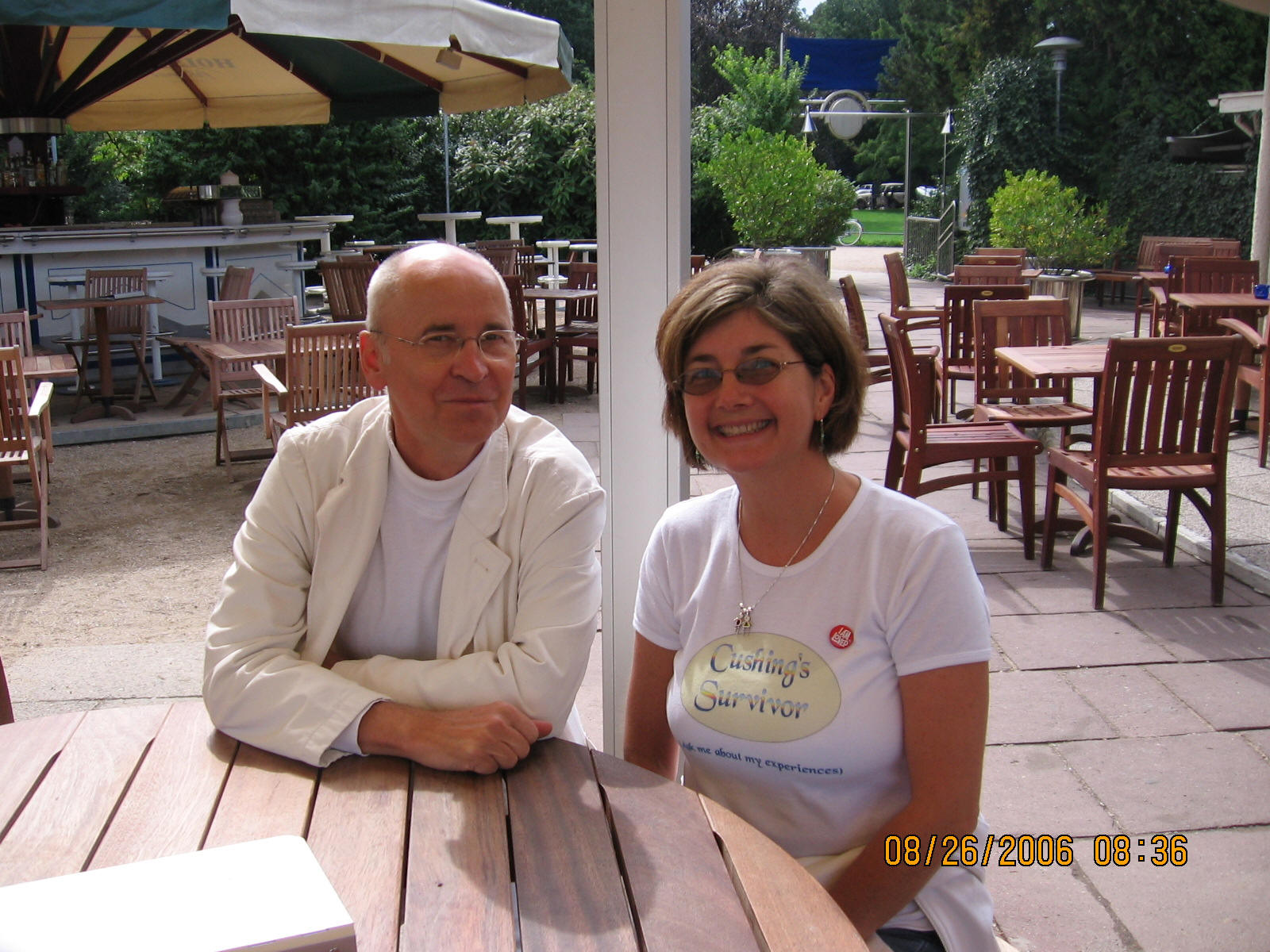 Dr. Dieter Luedecke and Heike 4 days after the surgery
